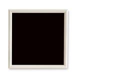 在白色背景的空的画框 图库摄影