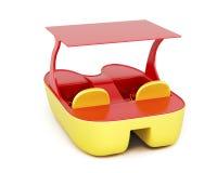 在白色背景的筏 3d回报image.colorful圆筒 免版税图库摄影