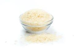 在白色背景的米 免版税库存照片