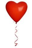 红色心脏气球 免版税库存图片