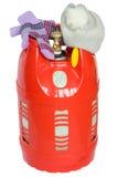 在白色背景的红色气球 免版税库存图片