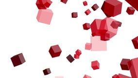 在白色背景的红色立方体 向量例证