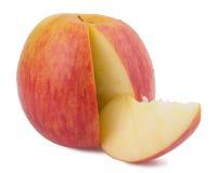 在白色背景的红色苹果 免版税库存图片