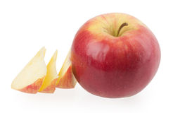 在白色背景的红色苹果 图库摄影