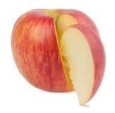 在白色背景的红色苹果 免版税库存照片