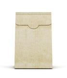 在白色背景的纸包裹 正面图 3D rende 库存图片
