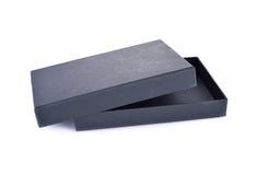 在白色背景的纸黑匣子 图库摄影