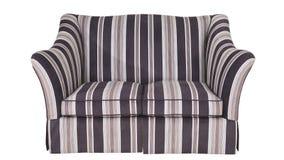在白色背景的织品沙发 库存图片
