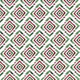 在白色背景的绿色和红色水彩菱形 库存图片
