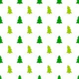 在白色背景的绿色圣诞树样式 皇族释放例证