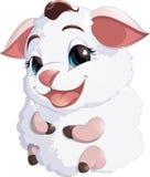 在白色背景的羊羔 免版税库存照片