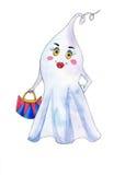 在白色背景的美丽的鬼魂 免版税库存照片