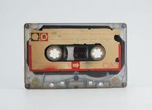 在白色背景的老录音磁带 免版税库存图片