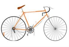 残破的自行车。 免版税图库摄影