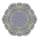 在白色背景的老被雕刻的石框架容易的选择的 图库摄影