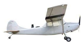 在白色背景的老飞机 免版税库存图片