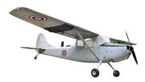 在白色背景的老飞机 免版税图库摄影