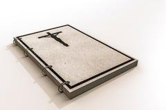 在白色背景的耶稣书 免版税库存照片
