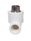 在白色背景的聚丙烯(PVC)配件 免版税库存照片