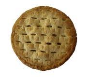 在白色背景的自创苹果饼。 免版税库存图片