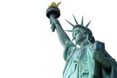 在白色背景的自由女神像 免版税库存图片