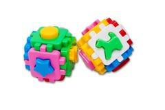 与动物的色的立方体难题 图库摄影