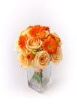 在白色背景的花花束 库存照片