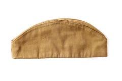 苏联军队战士草料盖帽 图库摄影