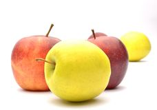 在白色背景的苹果 免版税库存照片