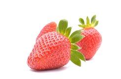 在白色背景的草莓 免版税库存图片