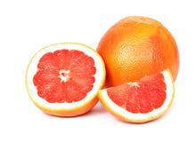 在白色背景的葡萄柚 图库摄影