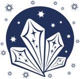 在白色背景的蓝色冬天艺术 免版税库存照片