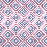 在白色背景的蓝色和桃红色水彩菱形 库存图片