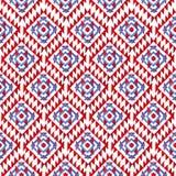在白色背景的蓝色和红色水彩菱形 库存图片