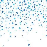 在白色背景的蓝色慕尼黑啤酒节五彩纸屑 在德国全国啤酒节日的传统颜色的欢乐装饰 皇族释放例证