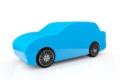 蓝色抽象汽车 库存照片