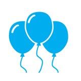 在白色背景的蓝色气球象 库存例证