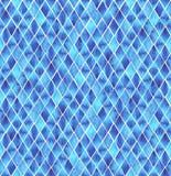 在白色背景的蓝色水彩菱形 免版税图库摄影