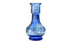 在白色背景的蓝色花瓶 图库摄影