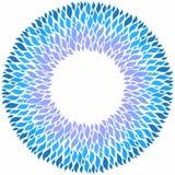 在白色背景的蓝色装饰样式 库存例证