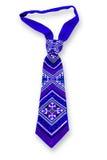 在白色背景的蓝色领带 库存照片