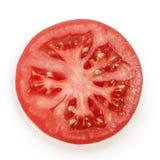 在白色背景的蕃茄切片 图库摄影