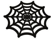 在白色背景的蜘蛛网 库存图片