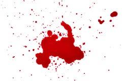 在白色背景的血液下落 库存图片