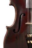 在白色背景的被隔绝的小提琴 库存照片