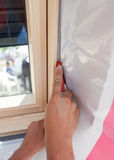 在白色背景的被隔绝的屋顶窗口天窗 免版税库存照片