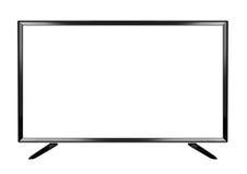 在白色背景的被隔绝的OLED平的聪明的电视 免版税库存照片