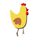 在白色背景的被仿造的鸡 a的滑稽的例证 免版税图库摄影