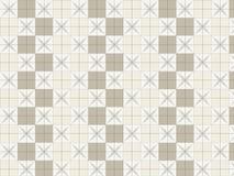 在白色背景的装饰正方形样式 免版税库存图片