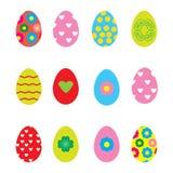 在白色背景的装饰的复活节彩蛋 免版税库存照片